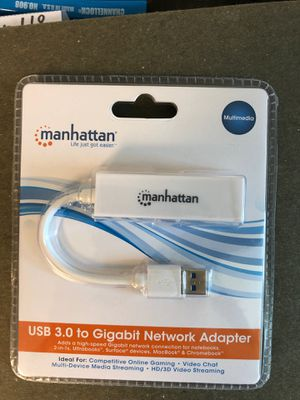 Manhattan, USB 3.0 to gigabit network adapter for Sale in Chesterfield, VA