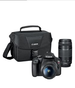 Canon - EOS Rebel T7 DSLR Video Two Lens Kit with EF-S 18-55mm and EF 75-300mm Lenses for Sale in San Diego,  CA
