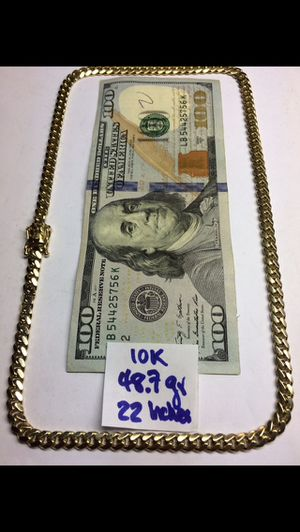 10K Solid Gold Chain 🇨🇺 Links 48.7Gr 22 Inches for Sale in Miramar, FL