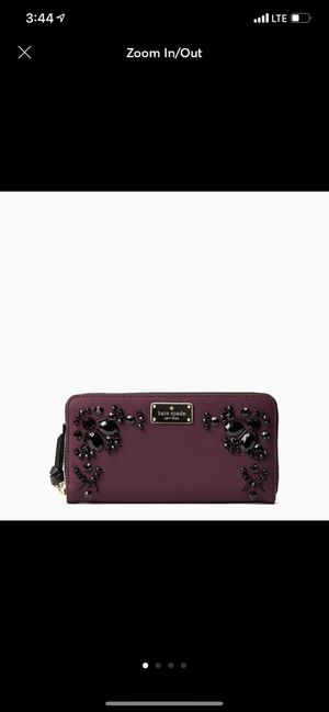 Kate Spade Embellished Zip Around Wallet for Sale in Locust Valley, NY