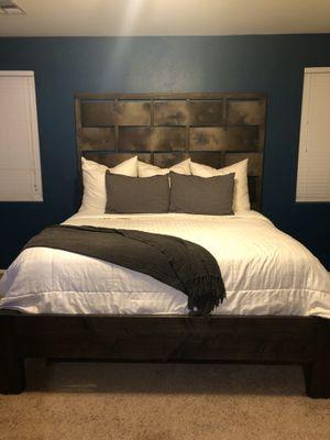 King Bed Frame and Headboard - Handmade for Sale in Gilbert, AZ