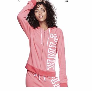 Victoria's Secret Pink Sweatshirt Hoodie full Zip Small Or large for Sale in North Olmsted, OH