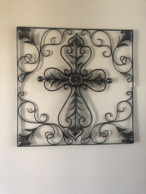 Cross or shelving wall decor for Sale in VLG O THE HLS, TX