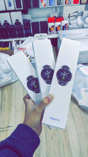 Samsung Galaxy Watch 3 Smartwatch 45mm / 41mm - Stainless BlueTooth - Mystic Black - Brand New in Box - One Year Warranty! for Sale in Arlington, TX