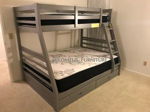 Twin/full bunk beds with mattress included for Sale in Jurupa Valley, CA