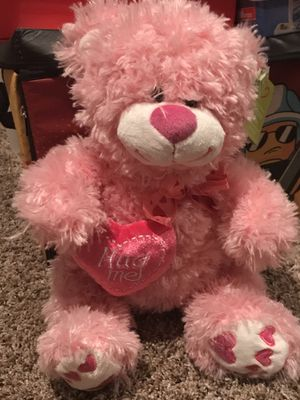 Father's Day pink Teddy Bear! 🐻💝🎀 New with tags . Hug me pillow. Hearts . Earthrite doll for Sale in Phoenix, AZ