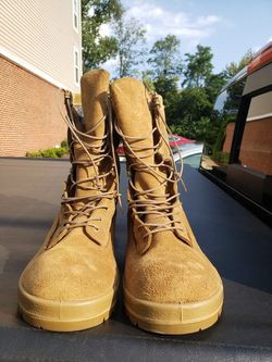 Two pairs: Coyote brown and sage green military boots size 11.5 for Sale in Sterling,  VA