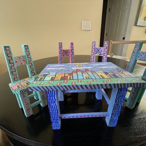 Table and Chairs- Oaxacan Wood Carving for Sale in Marietta, GA