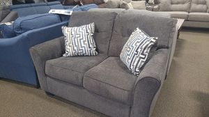 Grey fabric loveseat couch for Sale in Portland, OR