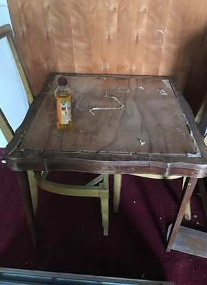 Old antique card table for Sale in Houston, TX