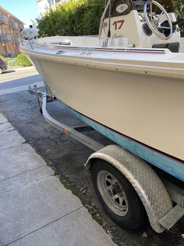 18 Fleet Center consolé Fishing boat trolley motor top cover evinrude90 motor traducer garmin fish finder