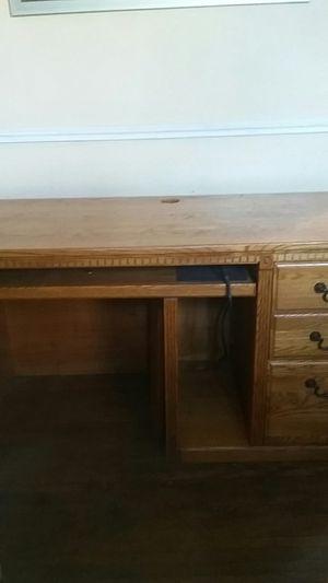 computer desk, hardwood, MUST GO NOW for Sale in Fort Wayne, IN