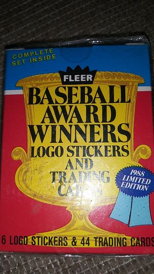 Unopened 1988 Limited Edition Fleer baseball Award winners logo stickers and trading cards for Sale in Seattle, WA