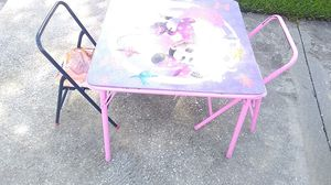 Kid table and 3 chairs for Sale in Sanford, FL