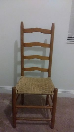 Prestige all wood chair with rattan seat for Sale in Lake Worth, FL