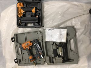 Three nail guns for $60 Bostich, port o cable, rigid for Sale in Seattle, WA