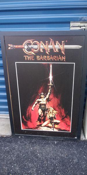 26 x 38 Conan framed poster board for Sale in Newport News, VA