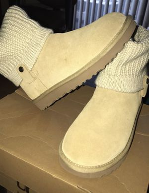 Tan UGG Saela Rib-Knit Cuff Boots for Sale in West Springfield, VA