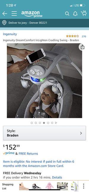 Ingenuity baby swing for Sale in Denver, CO