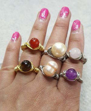 Handmade gemstone rings for Sale in Diamond Bar, CA