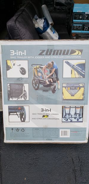 Bike trailer with stroller jogger conversion kit for Sale in Dublin, OH