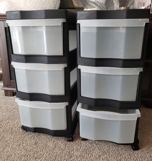 2 Plastic organizer shelf for Sale in Alexandria, VA