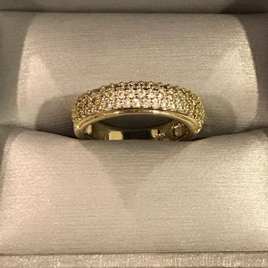 Unisex 18K YELLOW Gold plated Engagement Ring - BG Diamond Talia for Sale in Dallas, TX