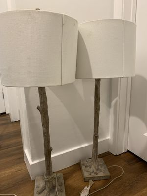 2 bedside decorative lamps for Sale in Los Angeles, CA