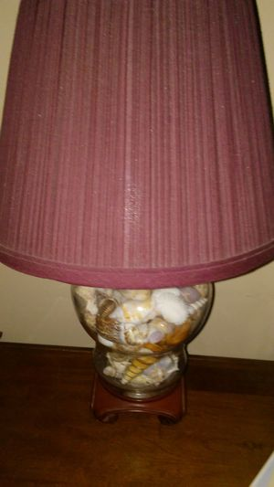 Nice table lamp filled with shells for Sale in New Windsor, MD