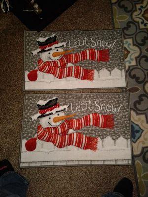 2 snowman door mats for Sale in Tulsa, OK