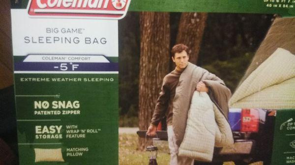 Big and tall sleeping bag