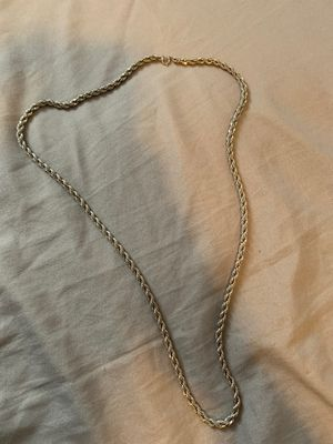 Authentic rolled silver chain, 15 inches. for Sale in San Diego, CA