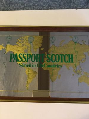 Passport scotch bar mirror for Sale in Brockport, NY