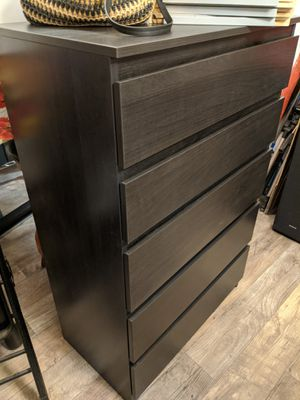 Ikea KULLEN 5-drawer chest black-brown New for Sale in Fremont, CA