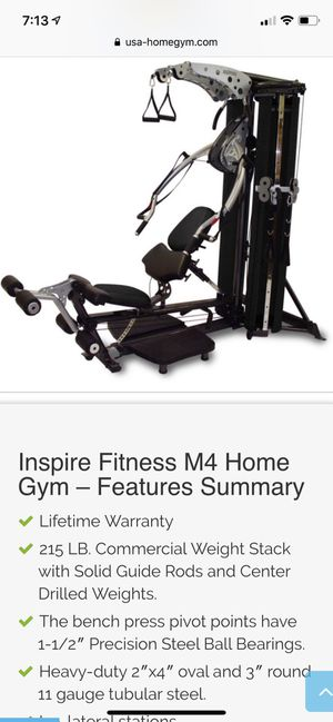 Inspire fitness M4 Home multi-gym for Sale in CANAL WNCHSTR, OH