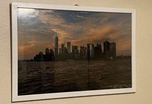 New York Skyline at Sunset 24x36 custom framed for Sale in Los Angeles, CA