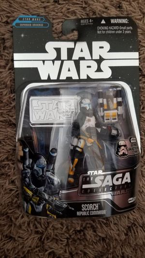 2006 Hasbro Star Wars Saga Collection #021 Scorch Republic Commando Action Figure for Sale in Warrington, PA