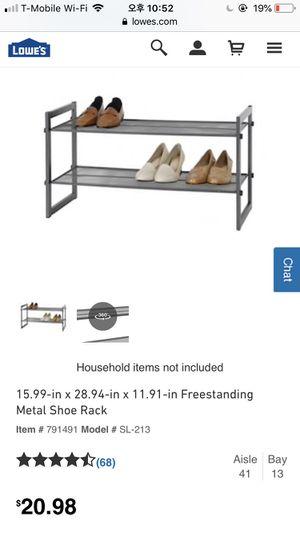Metal Shoe Rack-price drop!!! for Sale in Miami, FL