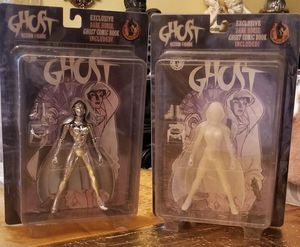 Glow-In-The-Dark Ghost Action Figures with Exclusive Dark Horse Comic Books 1998 for Sale in Florissant, MO