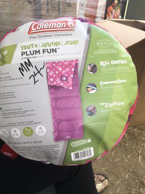 Coleman youth plum fun sleeping bag for Sale in Kingsburg, CA