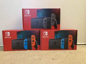 Nintendo Switch v2 32GB Console w/ Gray Joy-Con & Neon Blue/Red Joy-Cons IN-HAND! for Sale in Los Angeles, CA