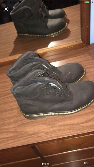 Size 10.5 Black Steel Toe Boots for Sale in Tarpon Springs, FL