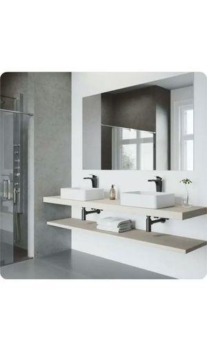 VIGO VG04013 Jasmine Rectangular Matte Stone Vessel Bathroom Sink White New for Sale in INDIANAPOLIS, IN