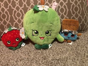 3 Shopkins plush toy bundle lot for Sale in Pacifica, CA