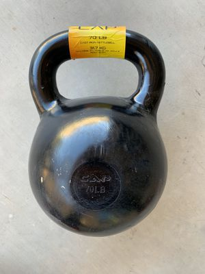 CAP Barbell Cast Iron Kettlebell, Black 70LBS for Sale in Peoria, AZ
