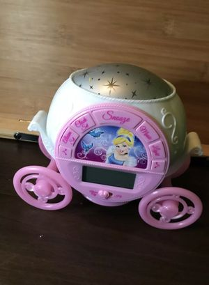 Disney Cinderella Alarm Clock With Lights And Music for Sale in Avon Lake, OH
