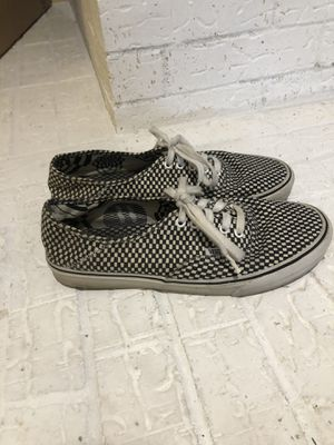 Vans authentic. Small white & black checkered. for Sale in College Station, TX