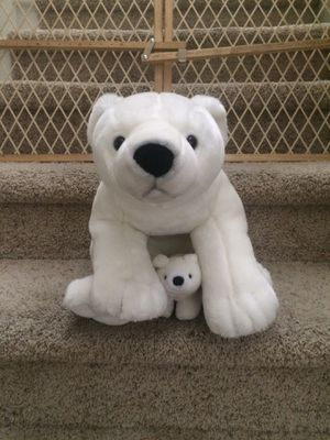 Stuffed polar bear with baby for Sale in Englewood, CO