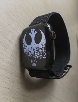 Apple watch 4 stainless 44mm cellular black for Sale in Las Vegas, NV