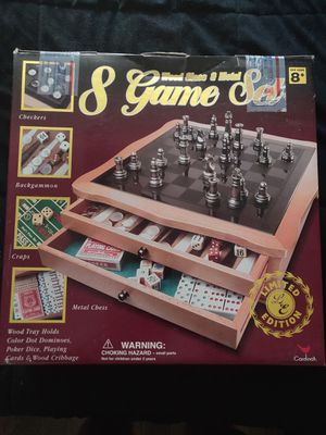 GORGEOUS glass and metal chess/checkers set for Sale in Chicago, IL
